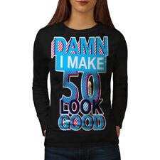 50 Years Old Age Birthday Women Long Sleeve T-shirt NEW | Wellcoda