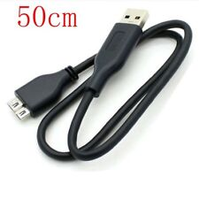 usb3.0 PC Charger +Data SYNC CableFor EMC Iomega eGo 2TB 34987 Hard Drive 50cm