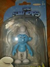 1 FIGURE I PUFFI CARTOON MOVIE THE SMURFS PITUFOS-PUFFO BRONTOLONE GROUCHY SMURF