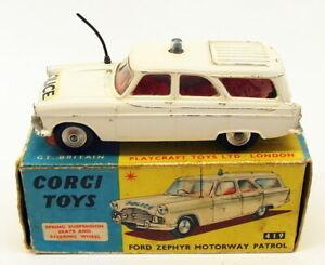Corgi Toys Vintage Model Car 419 - Ford Zephyr Motorway Patrol