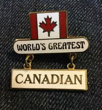 Lapel Hat Tie Pin Brooch #K17 World's Greatest Canadian Canada Pride Flag