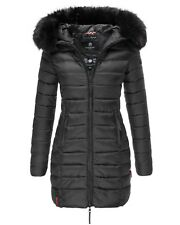 Marikoo Damen Winter Jacke Mantel Parka Steppmantel warm Übergang lang ROSE110