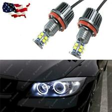 Max White 240W 7000K H8 LED Angel Eyes Halo Ring Bulbs fit BMW E60 E61 E90 E92