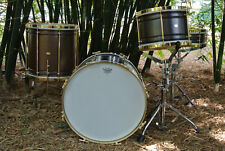 "AK COPPER BOP DRUM SET with 18"" 12"" 14"" + MATCHING 4X14 SNARE DRUM MADE in ITALY"