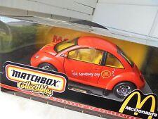 MATCHBOX  mb  1999  NEW  vw rare  1:18   beetle  of  MC' DONALDs,  un-OPENED...!