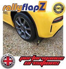 rallyflapZ FIAT 500 ABARTH (2016+) Black 4mm PVC Mud Flaps Scorpion Logo Yellow