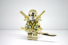 Custom Lego Ninjago Minifigure Gold Ninja Golden Lloyd  Dragon Sword Machine Pad