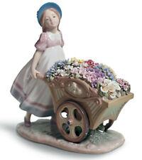 New Lladro Love'S Tender Tokens Girl Figurine #6521 Brand Nib Flowers Save$ F/Sh