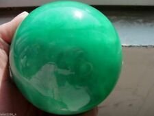 100MM Glow In The Dark Natural Green Fluorite Magic Crystal Healing Ball Stand
