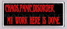 CHAOS,PANIC,DISORDER wide fridge magnet -  GOTHIC COOL !