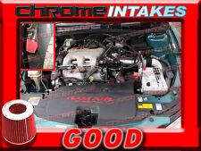 BLACK RED 99-05 PONTIAC GRAND AM/OLDSMOBILE ALERO 3.4 V6 FULL COLD AIR INTAKE 3p