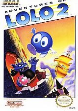 ADVENTURES OF LOLO 2 with cosmetic flaws NINTENDO GAME SYSTEM NES HQ