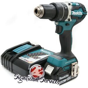 "Makita XPH12Z LXT Brushless Cordless 1/2"" Hammer Driver Drill 5.0 Ah Battery Kit"