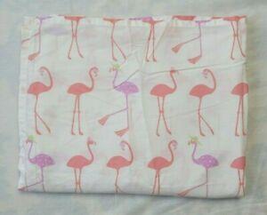 Pottery Barn Kids Pink Flamingo Coco Twin Flat Sheet Polka Dot Hat Cotton Blend