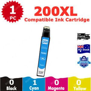1x Compatible Ink Cartridge 200XL 200 XL Cyan For Epson XP200 XP300 XP400