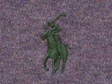 POLO RALPH LAUREN Purple Heather L/S Green pony 100% Cotton Interlock Shirt L