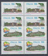 Italien 2019/20 postfrisch / Viererblöcke Briefmarkenausstellung (16863) .......
