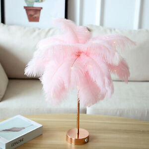 Creative Feather Table Lamp Bedside Light Home Porch Vanity Sconces Indoor
