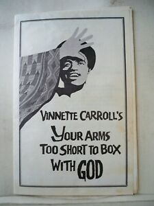 YOUR ARMS TOO SHORT TO BOX WITH GOD Playbill JENNIFER HOLLIDAY / ELUAH GILL 1979