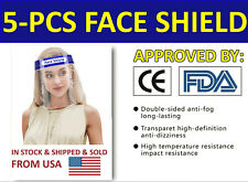 5 pcs Safety Face Sheild Clear Cover Tool Mask Anti-Fog Eye Face Guard Helmets