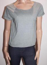 CLOCKHOUSE Brand Green White Stripe Short Sleeve Tee Size XL BNWT #SG09