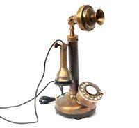 Christmas Candlestick Phones Bakelite Brass London Antique Telephone Replica 194