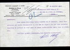 """TOURCOING (59) PEIGNAGE & FILATURE DE LAINE """"FOUAN & Fils"""" en 1931"""