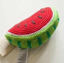 baby watermelon very cute SOFT crochet BABY RATTLE sound toy