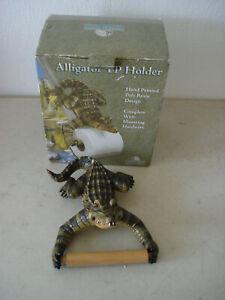Alligator Toilet Paper Holder Alligator Green - Bath Room Accessories TP