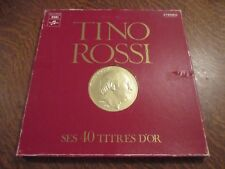 coffret 3 33 tours TINO ROSSI ses 40 titres d'or