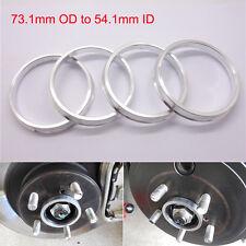 4pcs Car Wheel Hub Centric Spigot Rings 73.1mm OD to 54.1mm ID Aluminium Alloy