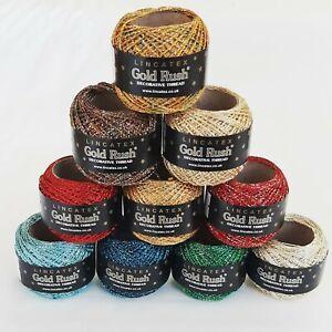 Gold Rush Goldfingering Metallic Yarn Lincatex 20g - 4 ply Crochet Knitting
