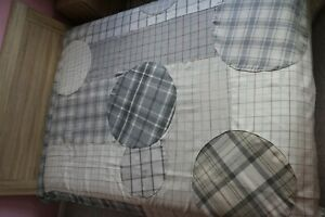 Bed cover king size 85x98'' unique handmade patchwork wool grill pattern