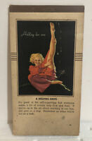 Vintage 1939 Earl Moran Pin Up Calendar Notepad - Holding Her Own- February 1939