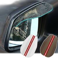 Car Door Side Rear View Wing Mirror Rain Visor Board Guard Weather Shield Cover