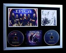 EPICA+SIGNED+FRAMED+HOLOGRAPHIC PRINCIPLE+ENIGMA=100% AUTHENTIC+FAST GLOBAL SHIP