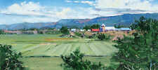 "Michael Ome Untiedt ""Valley Scene"" Signed Original Oil Painting on Board, 1995"