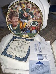 Brett Favre Green Bay Packers  commemorative plate Bradford Exchange