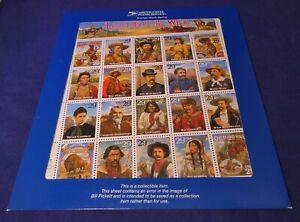 """Scott's No. 2870 """"Legends of the West""""  Mint Error Sheet   Rare Gem from 1994 !"""