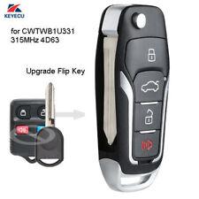 Upgraded Flip Remote Key Fob 315MHz 4D63 for Ford Lincoln Mercury - CWTWB1U331