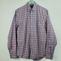 Lands' End Men's Cotton Plaid Long Sleeve Oxford Button Down Shirt Sz M
