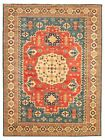 """Vintage Hand-knotted Carpet 9'10"""" x 13'2"""" Traditional Blue, Red  Area Rug"""