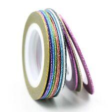 Zierstreifen Stripes selbstklebend Tape Nail Art bund 12 St. Set 1 mm