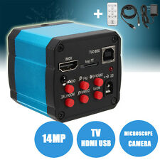 TV HDMI USB Output 14MP Microscope Industrial Digital Camera TF Video Recorder