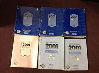 2001 PONTIAC GRAND PRIX Service Shop Repair Manual Set W EWD & UNIT Books