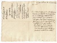 1711 Louis XV marquis signed manuscript letter AUTOGRAPH
