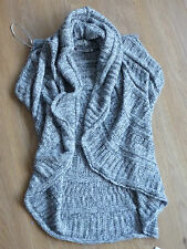 Women's NEW LOOK waterfall  cardigan grey color  size 16 BNWOT