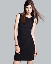$365 Theory Betty 2B Black Edition Wool Stretch Sheath Dress 10 NWT T364
