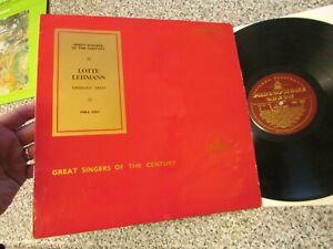 PMA 1057 - SINGERS OF THE CENTURY = LOTTE LEHMANN - ORCHESTRAL  ACCOMPANIMENT