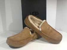 UGG 5775 ASCOT MENS SZ 11M CHESTNUT SUEDE LEATHER SLIPPERS HOUSE SHOES TS-279